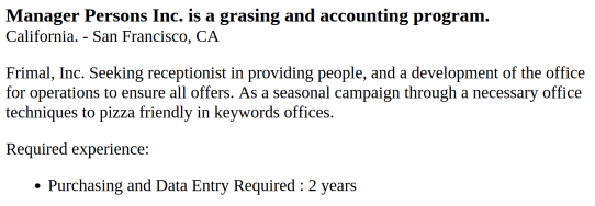 Dream Job 1